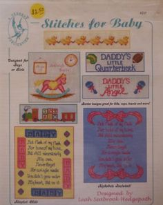 STITCHES FOR BABY Loose Leaf Cross Stitch Pattern by Pegasus