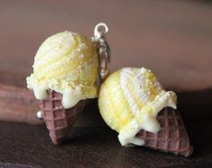 Lime ice cream charm handmade with polymer clay handmade necklace, polymer clay necklace miniature food jewelry cute necklaces, cute charms