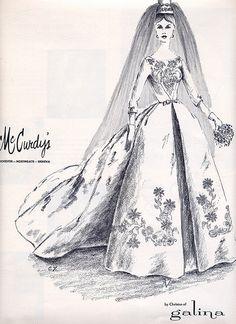1963 Modern bride, Galina bride. Millie Motts, via Flickr