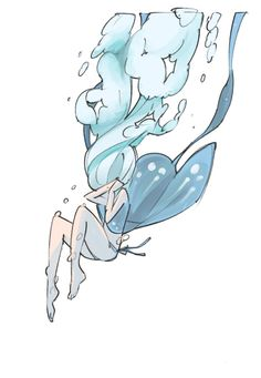 illustration #water #blue