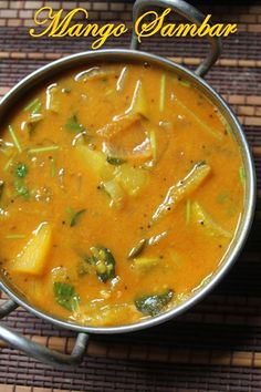 YUMMY TUMMY: Raw Mango Sambar Recipe - South Indian Mango Sambar Recipe