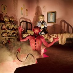 DEVIL Joshua Hoffine  photography  Check the link, he's a creative and interesting guy...strange art but interesting!