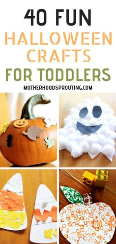 If you're looking to do some fun Halloween arts and crafts with your toddler, look no further! This post is full of Halloween crafts for and up! These easy Halloween crafts for kids are simple enough for even the littlest little fingers! Halloween Crafts For Toddlers, Halloween Arts And Crafts, Crafts For 2 Year Olds, Theme Halloween, Diy Halloween, Easy Toddler Crafts 2 Year Olds, Halloween Activities For Preschoolers, Halloween Crafts For Kindergarten, Two Year Old Crafts