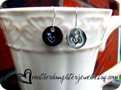 Hand Stamped Sterling Silver Dangle by MotherDaughterJewel on Etsy, $10.00