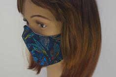 Schutzmaske Designerstoff 3DSchnitt für Damen und Herren Dreadlocks, Etsy, Hair Styles, Beauty, Protective Mask, Masks, Weird, Game, Hair Plait Styles