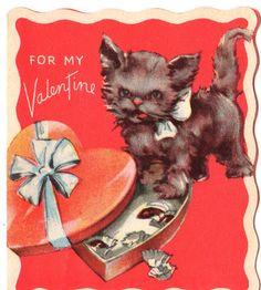 vintage kitty Valentine
