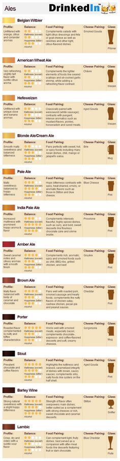 Food & Beer Pairings #infografía