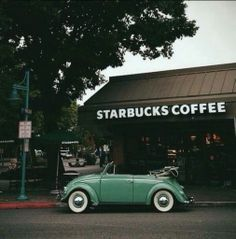 Retro starbucks coffee shop on We Heart It. beetle car coffee coffee shop grunge hipster indie old retro starbucks vintage