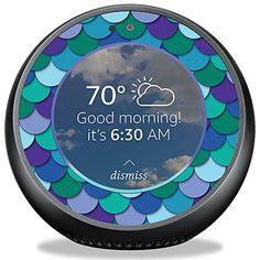Skin Decal for Amazon Echo Dot 2 2nd gen// Abalone Sea Shell Green Blue Purple