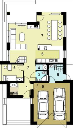Rzut HG-I22 CE House Layout Plans, House Layouts, House Plans, Floor Plans, How To Plan, Design, Homes, Blueprints For Homes, House Plans Design