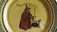 """Royal Doulton Witch Series Plate Antique 8 1/2 """" 