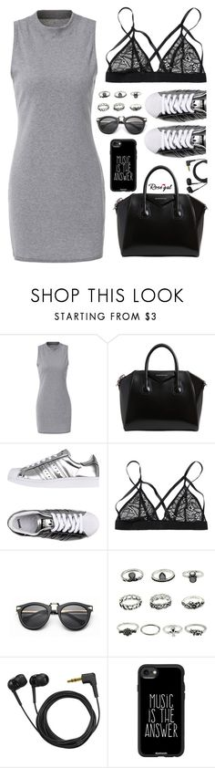 """""""Music is the answer"""" by deeyanago ❤ liked on Polyvore featuring Givenchy, adidas Originals, Sennheiser and Casetify"""