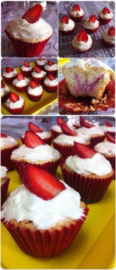 Cupcakes de fresa no tan fresas