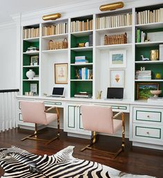 great home office. Great #homeoffice Space With Storage, Work Areas And Style To Spare! Great Home Office