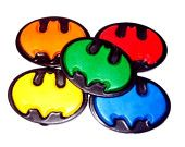 Batman party favors - recycled crayons