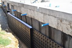 DEFENDER #recycled_polypropylene element for the #protection of basement #walls