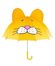 Rain, rain, go away ... and use the protective bubble of this umbrella to make it happen! With its darling design, everything will be blue skies for a puddle jumper—even when the weather says otherwise! Pair with other Kidorable rain gear for a totally trendy look.24'' H x 27'' diameterNylonImported