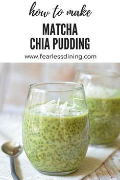 Best Chia Pudding Recipe, Chia Recipe, Pudding Recipes, Matcha Pudding Recipe, Matcha Chia Seed Pudding, Coconut Chia Pudding, Green Tea Recipes, Whole Food Recipes, Fodmap