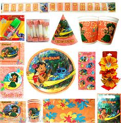 each thing 4.80 Lilo Stitch Birthday Party Supplies Create Your Set Pick Only What U Need | eBay