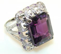 Sweet Alexandrite Quartz Sterling Silver Cocktail ring s. 6 1/4 - 8.00g | $65.85 best price at Silver Rush Style!