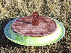 Groundhog Day Paper Plate Craft | AllFreeKidsCrafts.com