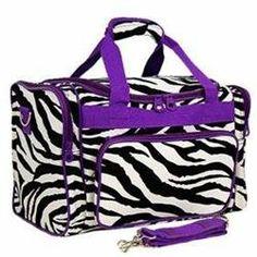 Rakuten.com:Handbags Bling and More Zebra Print Duffle Bag-Purple