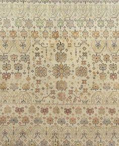 Antique Indian Rug Agra in floral motive, interior decor with antique ornamental rug #rug #interior #decor