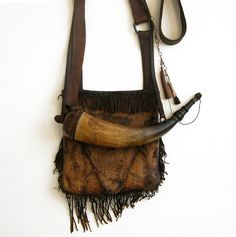 Hunting Pouch and Powder Horn Set by David Umbel