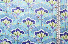 """wunderschöner Blütendruck aus der Serie good fortune von KATE SPAIN für MODA   weitere Farben und Kombiartikel im shop unter der Serie """"good fortune"""""""