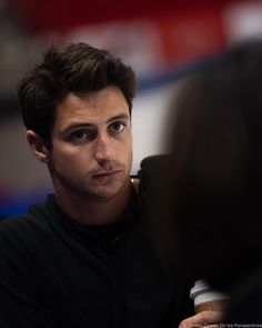 Scott and Marie-France Dubreuil talk choreography for Photo by oniceperspectivesphotos Virtue And Moir, Tessa Virtue Scott Moir, Scott Moir Girlfriend, Ice Skating, Figure Skating, Love On Ice, Tessa And Scott, Team 2, Sports