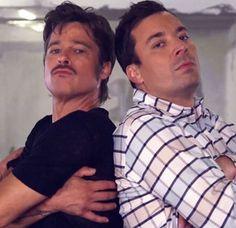 Brad Pitt and Jimmy Fallon