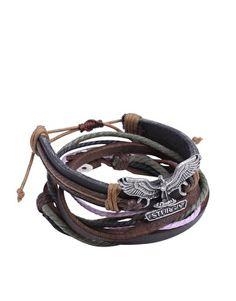 ASOS: Eagle Leather Wrap Around Cuff Bracelet