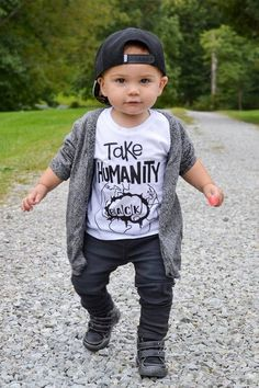 Take back humanity, the child's fashionable tee or bodysuit baby toddler boy girl clothing Take back humanity, the child's fashionable tee or bodysui . Kind Lessons kindlessonssite Kinderbekleidung Take back humanity, the child's fash Toms Outfits, Cute Baby Boy Outfits, Little Boy Outfits, Toddler Boy Outfits, Toddler Boys, Baby Kids, Toddler Boy Style, Toddler Chores, Toddler Boy Fashion