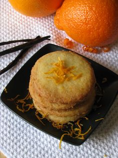 Vanilla orange shortbread cookies
