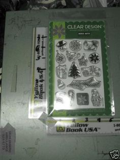 Hero Arts CL366 Cling Christmas Decorative Stamp Set