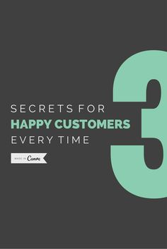3 Secrets for Making Your Customers Happy Every Time by @zachkitschke  http://www.inc.com/zach-kitschke/3-secrets-for-making-customers-happy-every-time.html