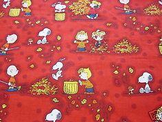 Snoopy-Peanuts-Fall-Autumn-Fabric-Fat-Quarter-18-x-21