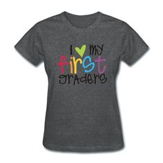 Show your teaching grade-level pride with this simple message in bright colors!