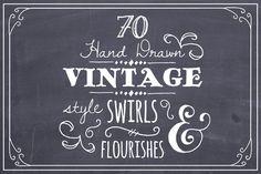 Hand Drawn Swirls & Flourishes by The Pen & Brush on Creative Market