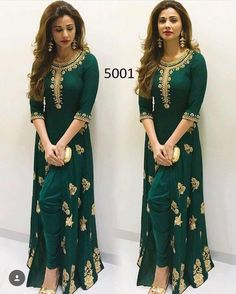 Evening party wear indo western salwar kameez are perfect outfit when it comes to wedding and festivities. Anarkali Dress, Pakistani Dresses, Indian Dresses, Indian Outfits, Anarkali Suits, Indian Party Wear, Indian Wear, African Fashion, Indian Fashion