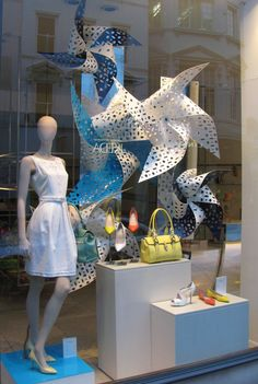 large pinwheel window display by L.K Bennett