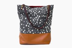 Leatherblocked Tote