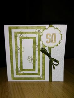 50th layered birthday card