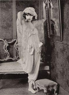 Silent film star Bebe Daniels in lingerie, 1920s.