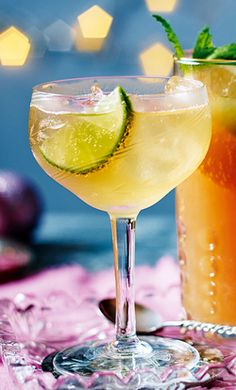 The wonderfully warming flavours of spiced rum and ginger syrup are enhanced by lime and lager in this fantastically festive cocktail. | Tesco