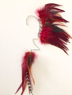 Red Feather Ohr Manschette / Ohr wickeln mit von PrettyVagrant