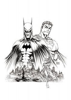 Michael Turner - Superman / Batman #8 Cover Comic Art