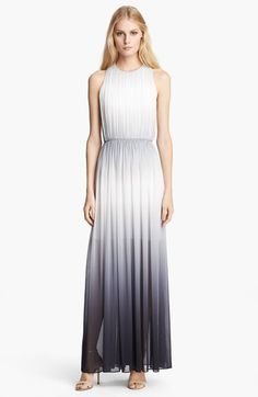 Free shipping and returns on Alice + Olivia 'Jinny' Gathered Dress at Nordstrom.com. Intricate gathers and a defined waist shape a pretty ombré maxi dress styled with a sophisticated T-back.