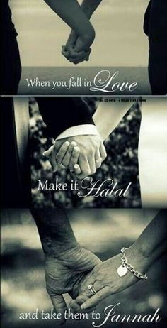 """""""What does Islam say about falling in love? Is that allowed in Islam?"""" Rasool Allah's response: Before Nikkah, a man is allowed to see the face of the woman he wants to marry. The woman has right weather she wants to marry him or not. Muslim Couple Quotes, Cute Muslim Couples, Muslim Love Quotes, Love In Islam, Islamic Love Quotes, Romantic Couples, Hadith, Alhamdulillah, True Love"""
