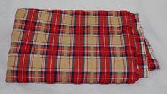 Vintage Fabric Red Plaid Seersucker Yardage by ilovevintagestuff